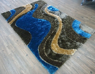 Rug Factory Plus Hand-Tufted Brown/Blue Area Rug