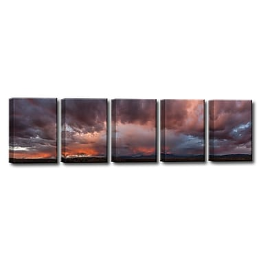 Ready2hangart 'Mesa Mountains' by Bartlett Hayes 5 Piece Photographic Print on Canvas