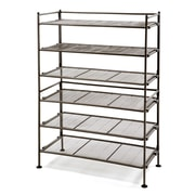 Seville Classics Utility 3-Tier Shoe Rack (Set of 2); Satin Cocoa