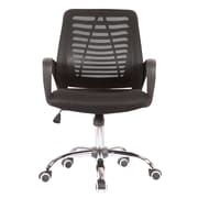 Porthos Home Quentin Mid-Back Desk Chair; Black