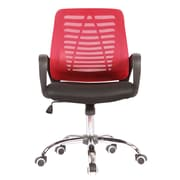 Porthos Home Quentin Mid-Back Desk Chair; Red