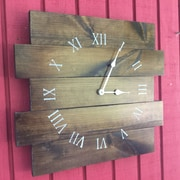 Essex Hand Crafted Wood Products 14'' Canvey Wood Wall Hanging Clock