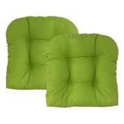 Edie Inc. Sonic Diamond Outdoor Chair Cushion (Set of 2); Leaf