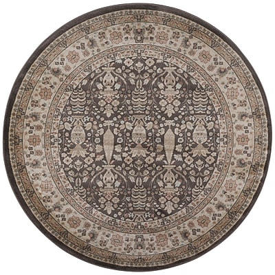 Wildon Home Garda Brown Area Rug; Round 5'3''