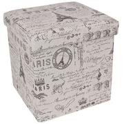 Songmics Paris Effiel Tower Storage Cube Ottoman
