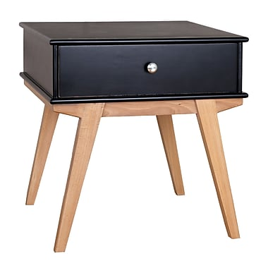 Porthos Home Lucille End Table; Black