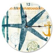 Stupell Industries 12'' Beach Theme Starfish Vanity Clock