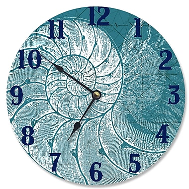Stupell Industries 12'' Seashell Vanity Clock