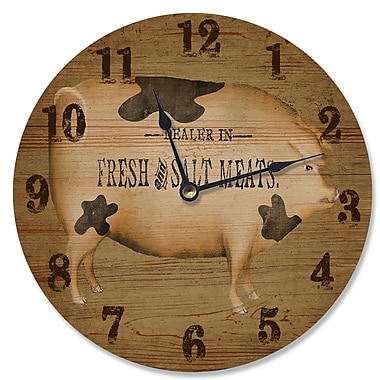 Stupell Industries 12'' Dealer in Fresh and Salt Meats Art Vanity Clock