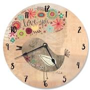 Stupell Industries 12'' Love You Little Birdie Vanity Clock