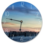 Stupell Industries 12'' Sand Dune Fence at Sundown Vanity Clock