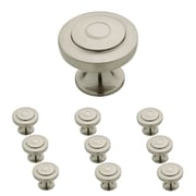 "Franklin Brass 1-1/4"" Geary Kitchen Cabinet Hardware Knob, Satin Nickel, 10 Pack (P29526K-SN-B)"
