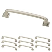 "Franklin Brass Satin Nickel 4"" Lombard Kitchen or Cabinet Hardware Drawer Handle Pull, 10 Pack (P29613K-SN-B)"