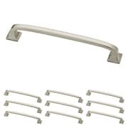 "Franklin Brass Satin Nickel 5"" Lombard Kitchen or Cabinet Hardware Drawer Handle Pull, 10 Pack (P29614K-SN-B)"