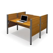 Bestar Pro-Biz Double Face To Face Workstation, Cappuccino Cherry (100870C-68)