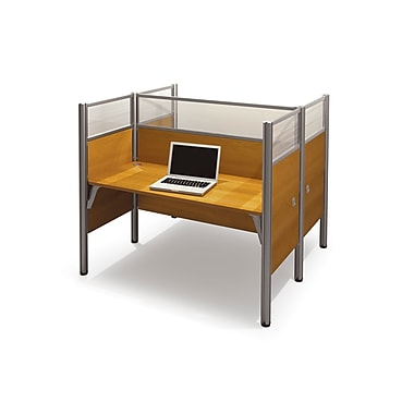 Bestar Pro-Biz Double Face To Face Workstation, Cappuccino Cherry (100870D-68)
