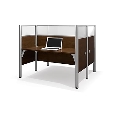Bestar Pro-Biz Double Face To Face Workstation, Chocolate (100870D-69)