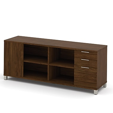 Pro-Linea Credenza, 3-Drawers, Oak Barrel, (120611-30)