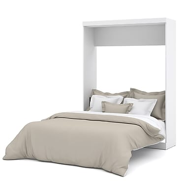 Nebula by Bestar Queen Wall Bed, White, (25184-17)
