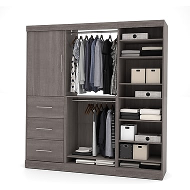 Nebula by Bestar 80'' Storage Kit, 3-Drawer Set, Bark Grey, (25850-47)