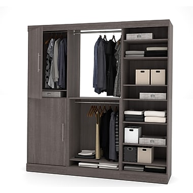 Nebula by Bestar 80'' Storage Kit, Bark Grey, (25852-47)