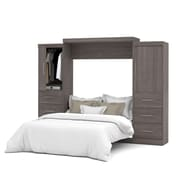 "Nebula by Bestar 115"" Queen Wall Bed Kit, Bark Grey, (25884-47)"