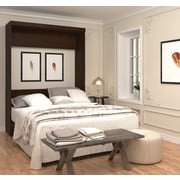 Pur by Bestar Queen Wall Bed, Chocolate, (26184-69)