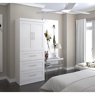 Pur par Bestar – Unité de rangement 36 po avec ensemble de 3 tiroirs et portes, fini blanc (26878-17)