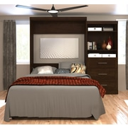 "Pur by Bestar 101"" Queen Wall Bed Kit, Chocolate, (26881-69)"
