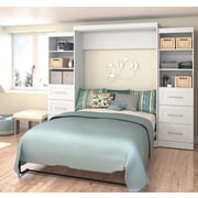 """Pur by Bestar 115"""" Queen Wall Bed Kit, White, (26884-17)"""