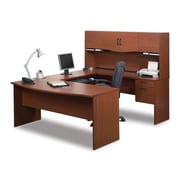 Bestar Harmony U-Shaped Workstation, Bordeaux & Charcoal