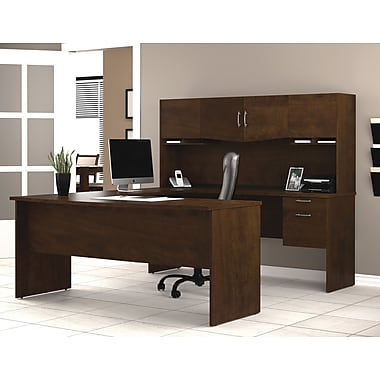 Bestar Harmony U-Shaped Workstation, Chocolate