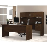 Bestar Harmony U-Shaped Workstation, Chocolate (52411-69)