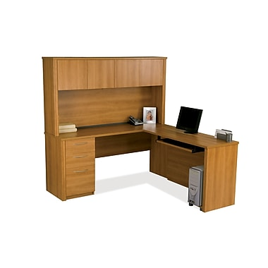 Bestar Embassy L-Shaped Workstation Kit, Cappuccino Cherry (60865-68)