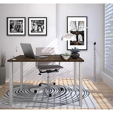 Bestar – Table avec pattes carrées en métal 24 x 48 (po), fini tuxedo (65855-78)