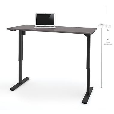 Bestar – Table motorisée à hauteur réglable, 30 po x 60 po, ardoise (65867-59)
