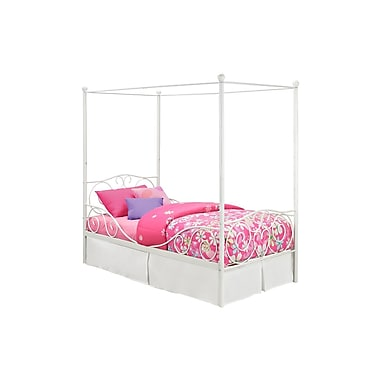 DHP Canopy Metal Bed, Twin, White
