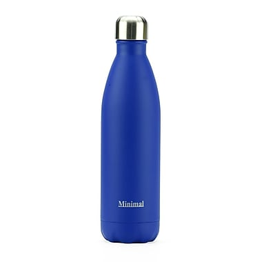 Minimal – Bouteille isolée, 750 ml, bleu