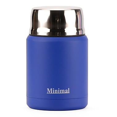 Minimal Insulated Food Jar, 500 mL, Blue