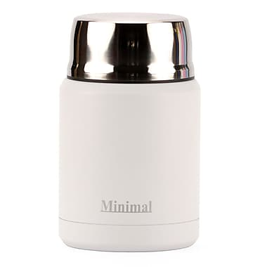 Minimal Insulated Food Jar, 500 mL, White