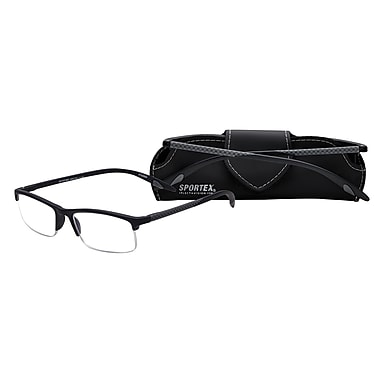 Select-A-Vision Sportex High Performance +1.25 Reading Glasses, Grey (EAR4150GY-125)