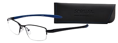 Select-A-Vision Sportex High Performance +1.50 Reading Glasses, Blue (EAR4145BL-150)