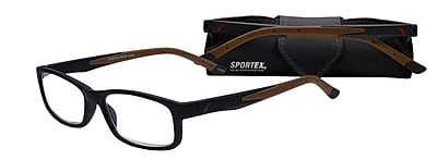 Select-A-Vision Sportex High Performance +1.50 Reading Glasses, Brown (EAR4161BN-150)