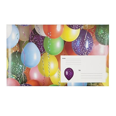 JAM Paper® Holiday Bubble Mailers, Small, 6 x 10, Party Balloons, 6/pack (SS38S)