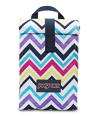 Jansport Roll Top Lunch Bag, Multi Saucy Chevron