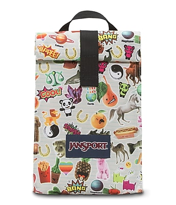 Jansport Roll Top Lunch Bag, Multi Sticker