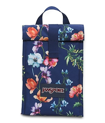Jansport Roll Top Lunch Bag, Multi Mountain Meadow