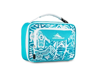 High Sierra Single Compartment Lunch Bag, Teal Shibori Geometric Print (74715-5136)