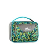 High Sierra Single Compartment Lunch Bag, Electric Geo/Charcoal Grey/Tropical Teal Geometric Print (74715-4947)
