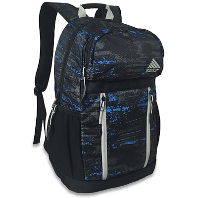 Kelty Conquest Sport Backpack, Black/Turquoise/Grey Radial Print (6821)